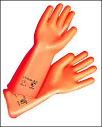Orange Natural Rubber Gloves