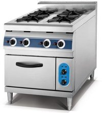 4 Burner Gas Cooking Range With Oven
