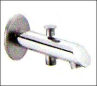 Bath Tub Spout With Button Attachment For Telephonic Shower