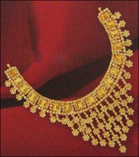 Gold Polki Chakri Necklace