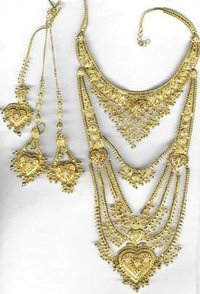 Bridal Gold Haar Set