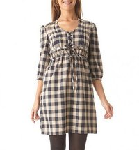 Ladies Checkered Long Tops