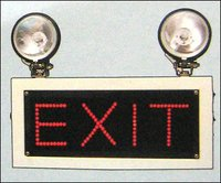 Industrial Emergency Light With Exit Sign