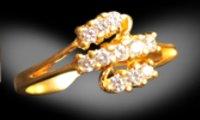 Ladies Gold Finger Rings