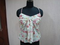 Ladies Printed Sleeveless Tops