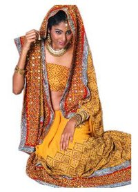 Turmeric Coloured Bridal Saree