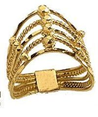 Fashionable Ladies Gold Rings