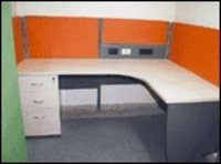 Curvilinear Cubicle Workstation