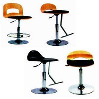 Leather Cushion Bar Stool