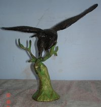 Brass Eagle Statue