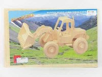 3D Wooden Diy Bulldozer