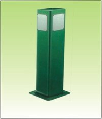 Square Bollard Garden Light
