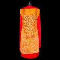 Orange Georgette Shine Salwar Kameez