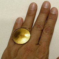 Sun Shape Gold Adjustable Ring