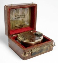 Brunton Compass In Wooden Box