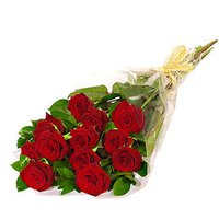 12 Roses Flowers Bunch