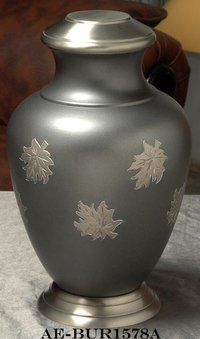 Arcadia Maple Leaf Brass Cremation Urn