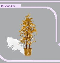 Golden Artificial Plants