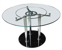 Round And Rotatable Dining Table