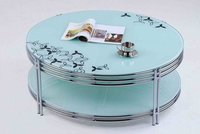 Tempered Glass Coffee Table With Picture Cover