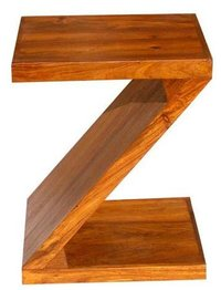 Z Shape Bed Side Wooden Table