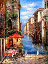 Venice Scene Oil Paintings