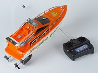 Radio Controlled R/C High Speed Racing Boat (Orange & White)
