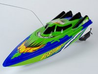 Radio Controlled Boats Rc Racing Speed Boat (Blue & Green)