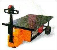 Electric Pedestrian Operated Platform Truck