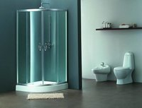 Sector-Shaped Sliding Door Shower Room