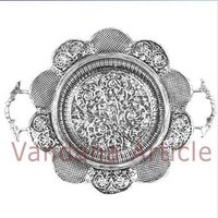 Floral Design Silver Trays