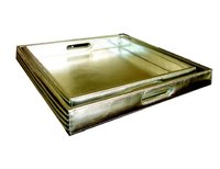 Silver Leather Tray
