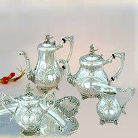 Silver Eagle Tea And Coffee Set With Matching Tray