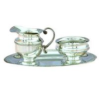 Silver Creamer Sugar Set