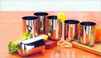 Stainless Steel Royal Glass Set