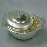 Engraved Silver Serving Bowls