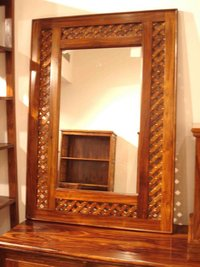 Wooden Hand Crafted Mirror