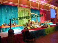 Indian Wedding Colourful Stage With Swing