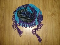 Tiger Print And Plain Dyed Patch Scarves
