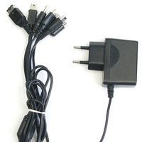 Multifunctional 5-In-1 Charger For Psp Go/Psp/Nds/Ndsl/Mini Usb