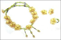 Ladies Gold Foil Classic Necklace Set