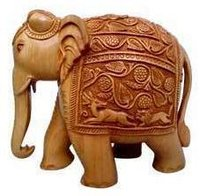 Crafted Elephant Statue
