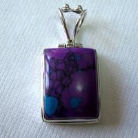 Sterling Silver Pendant With Cabochon Stone