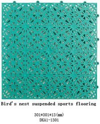 Green Interlocking Sports Flooring