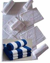Soft White Hotel Towels