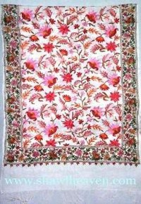 Fully Embroidered Designer Pashmina Shawls