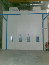 Bottom Suction Dry Type Spray Painting Booths