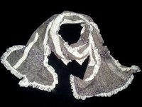 Cotton Scarf With Lace And Frills