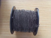 Black Ball Chain On Spool