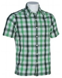 Mens Yarn Dyed Checks Green Shirts